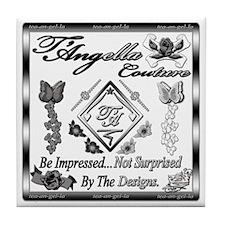 Blk Wht 10 x10 copy Tile Coaster