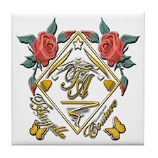 Wht Gld_wmn10 x 10 copy Tile Coaster
