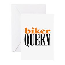 BIKER QUEEN Greeting Cards (Pk of 10)