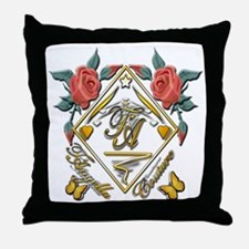 Wht Gld_wmn10 x 10 copy Throw Pillow