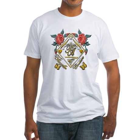 Wht Gld_wmn10 x 10 copy Fitted T-Shirt