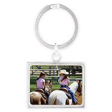 boys vs horses Landscape Keychain