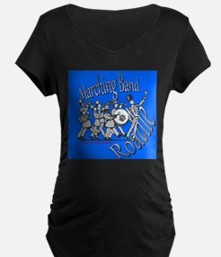 Marching Band Roadie Blue Maternity T-Shirt