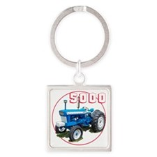 Ford5000-C3trans Square Keychain