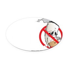 Butthead-blk Oval Car Magnet
