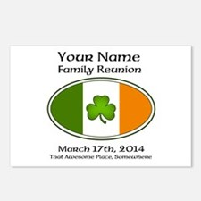 Irish Family Reunion with YOUR NAME Postcards (Pac
