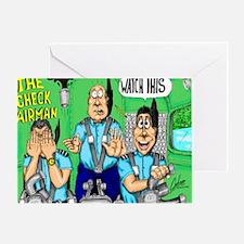CHECK AIRMAN Greeting Card