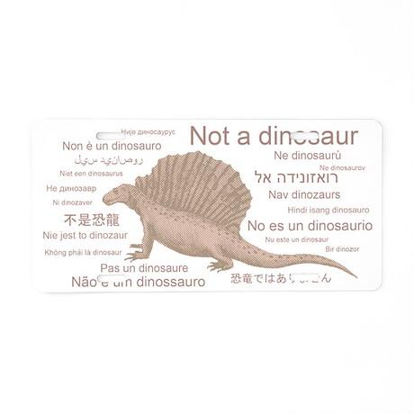 Edaphosaurus_NotADinosaur Aluminum License Plate