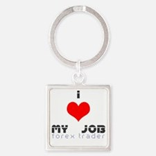 i(heart)forextrader Square Keychain