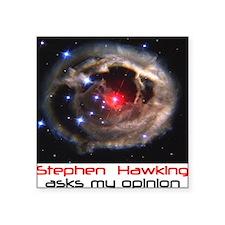 """Hawking Square Sticker 3"""" x 3"""""""
