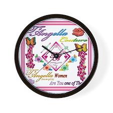 dark women 10x10 copy Wall Clock