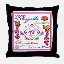 dark women 10x10 copy Throw Pillow