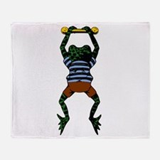 Frog Hanging Out Throw Blanket