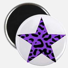 Leopard Star Purple Magnet