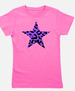 Leopard Star Purple Girl's Tee