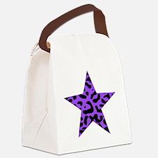 Leopard Star Purple Canvas Lunch Bag