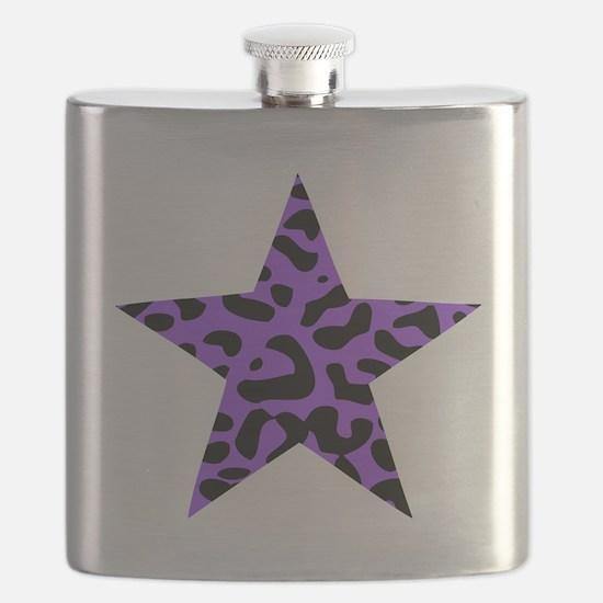 Leopard Star Purple Flask