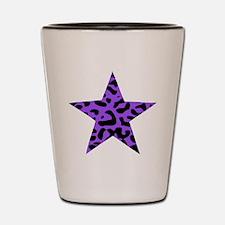 Leopard Star Purple Shot Glass