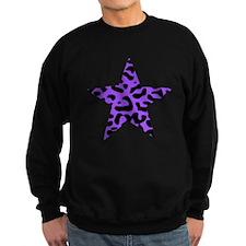 Leopard Star Purple Sweatshirt
