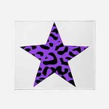 Leopard Star Purple Throw Blanket