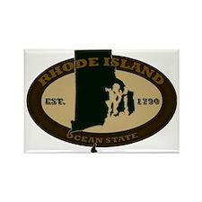 Rhode Island Est 1790 Rectangle Magnet