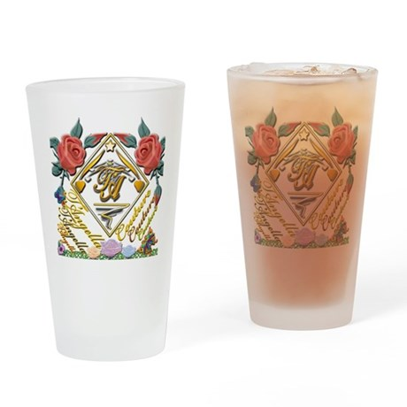 dark Tc wmn 10x10 copy Drinking Glass