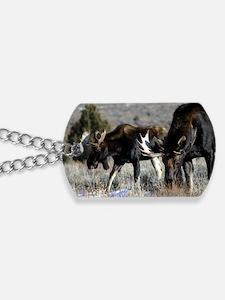 bull moose Dog Tags