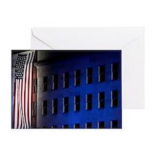 Pentagon Memorial Flag Greeting Card