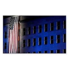 Pentagon Memorial Flag Decal