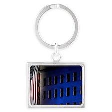 Pentagon Memorial Flag Landscape Keychain