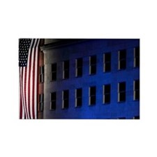 Pentagon Memorial Flag Rectangle Magnet
