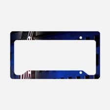 Pentagon Memorial Flag License Plate Holder