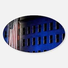 Pentagon Memorial Flag Sticker (Oval)