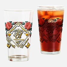 wht gold 4x4_pocket copy Drinking Glass