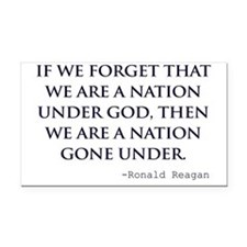 Reagan_nation-under-god-(whit Rectangle Car Magnet