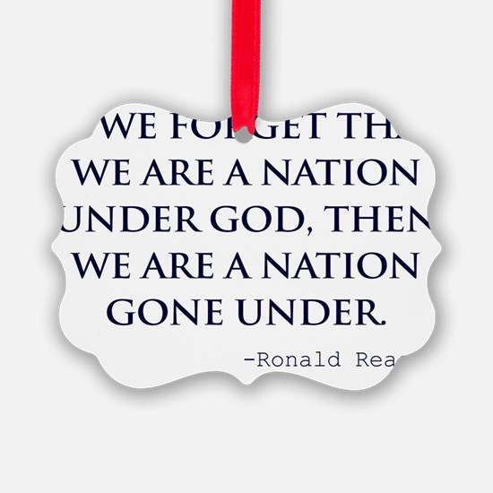 Reagan_nation-under-god-(white-sh Ornament