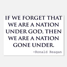 Reagan_nation-under-god-( Postcards (Package of 8)