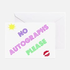 autograph design Greeting Card
