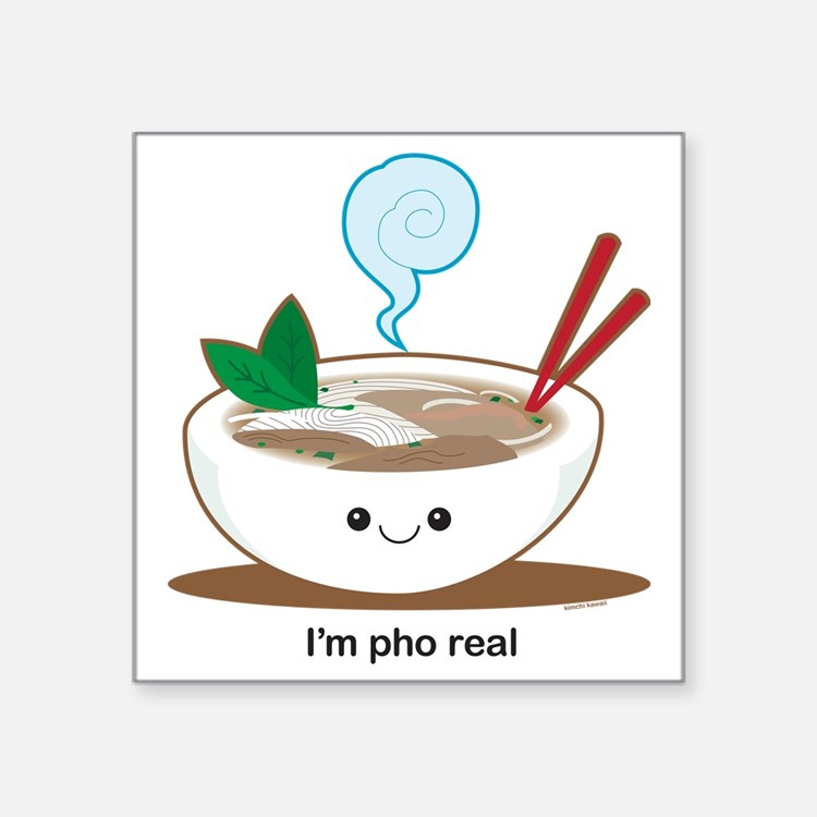 "Pho Square Sticker 3"" x 3"""