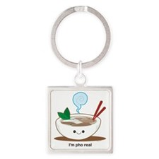 Pho Square Keychain