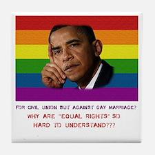 2-Obama rights Tile Coaster