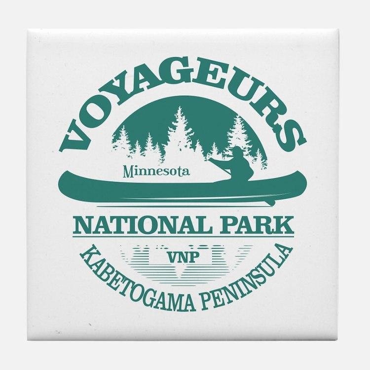 Voyageurs NP (Canoe) Tile Coaster