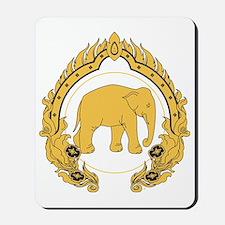 Thai-elephant-gold-black Mousepad