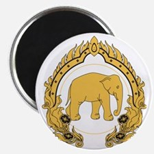 Thai-elephant-gold-black Magnet