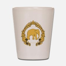 Thai-elephant-gold-black Shot Glass