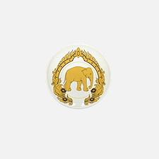 Thai-elephant-gold-black Mini Button