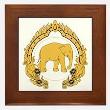 Thai-elephant-gold-black Framed Tile