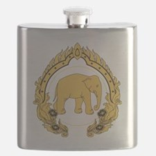 Thai-elephant-gold-black Flask