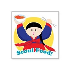 "Seoulfood Square Sticker 3"" x 3"""