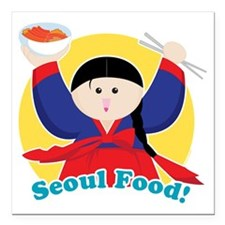 "Seoulfood Square Car Magnet 3"" x 3"""